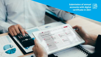 Submission of annual accounts with digital certificate in 2021